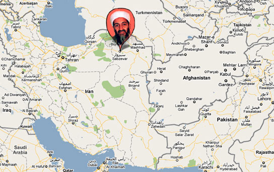 Reports say Osama Bin-Laden has been hiding in Sabzevar, Iran for 5 years and has 3,811 Facebook friends.