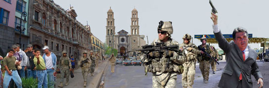 PERRY OPEN TO MILITARY INVASION OF MEXICO